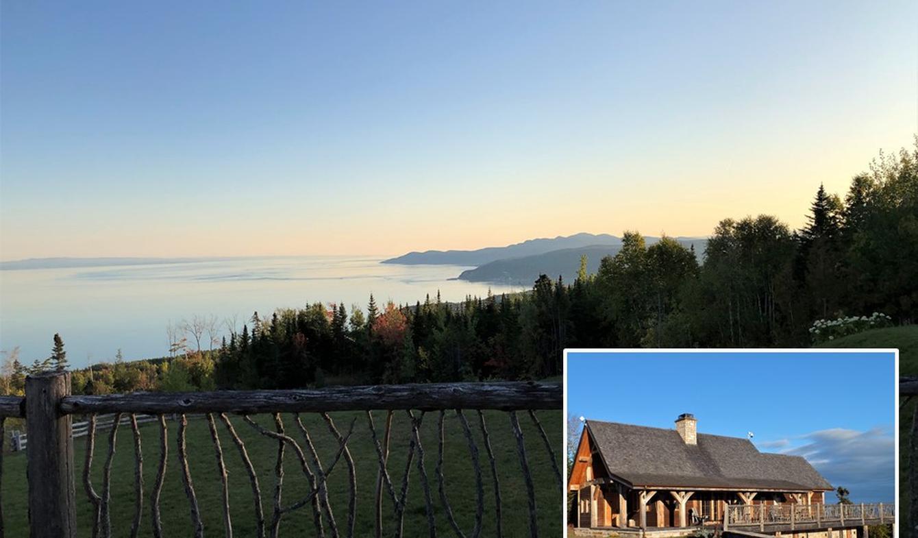 Chalet avec vue panoramique et terrasse La Malbaie