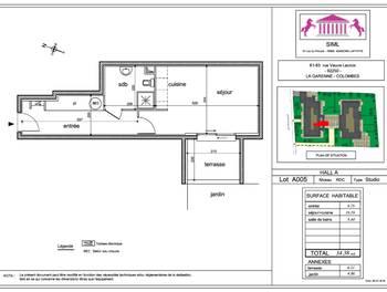 Studio 34,38 m2