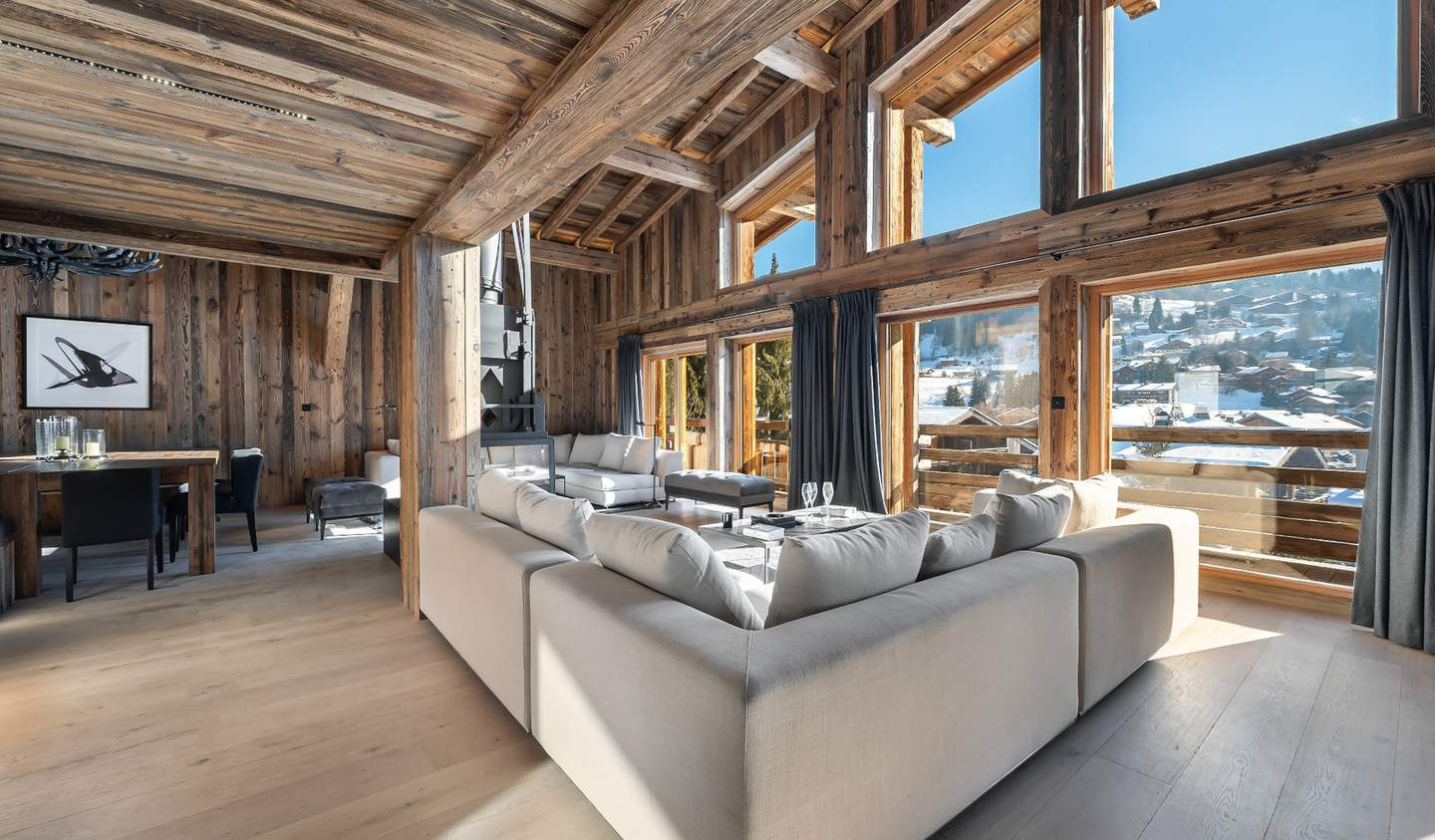 Chalet with panoramic view and terrace Megeve
