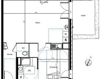 Appartement 2 pièces 55,33 m2