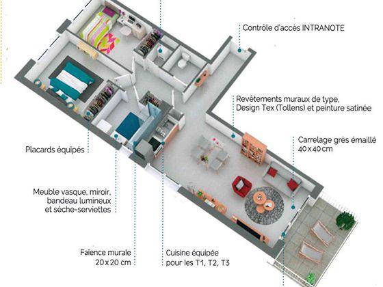 Vente appartement 3 pièces 57,95 m2