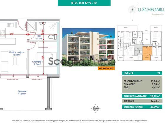 Vente appartement 2 pièces 28,79 m2