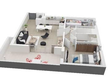 Appartement 3 pièces 70,73 m2