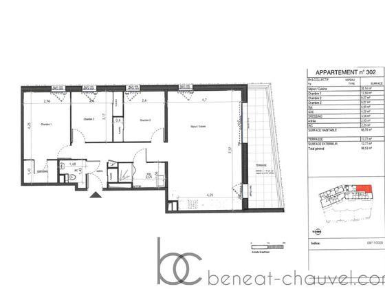 Vente appartement 4 pièces 86,09 m2
