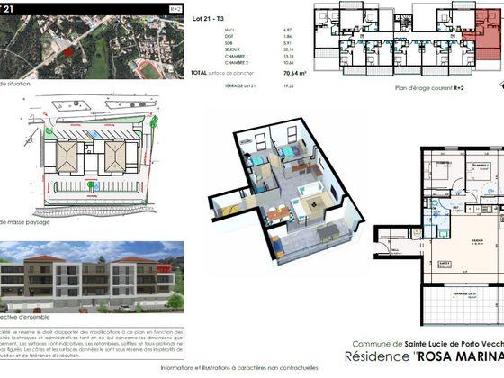 Vente appartement 3 pièces 70,64 m2