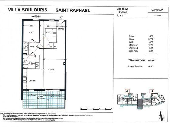 Vente appartement 3 pièces 77,36 m2