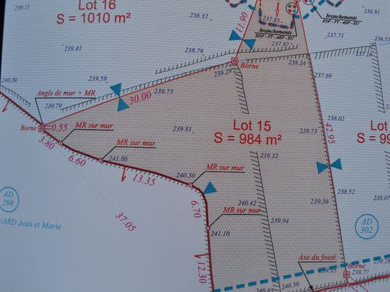 Vente terrain 984 m2