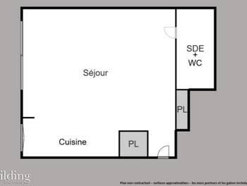 Studio 29,6 m2