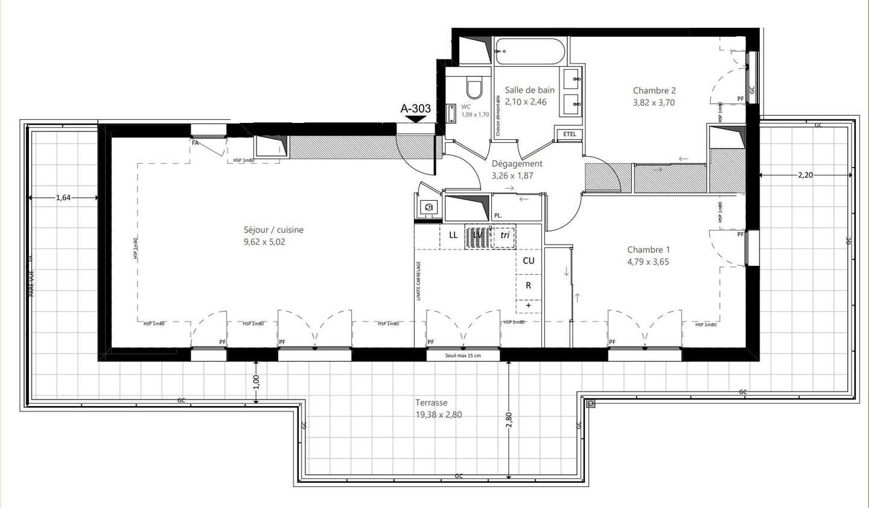 Appartement avec terrasse Garches