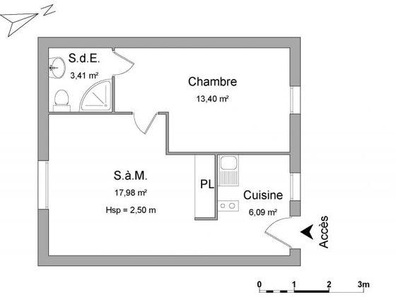 Location maison 2 pièces 41 m2