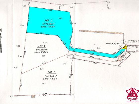 Vente terrain 1200 m2