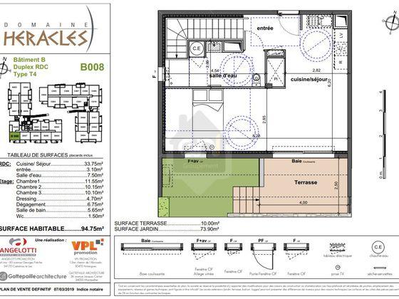Vente appartement 4 pièces 94,75 m2