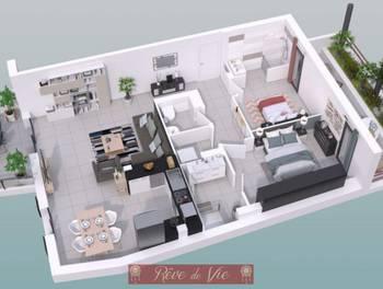 Appartement 3 pièces 83,4 m2