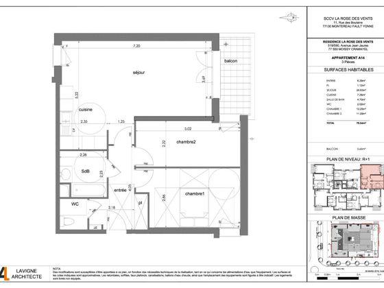 Vente appartement 3 pièces 70,56 m2