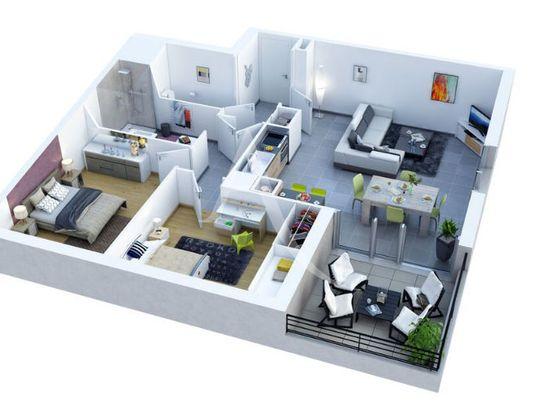 Vente appartement 3 pièces 60,45 m2