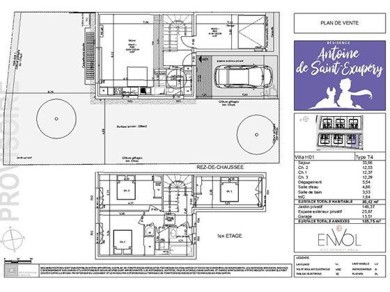 Vente maison 4 pièces 86,87 m2