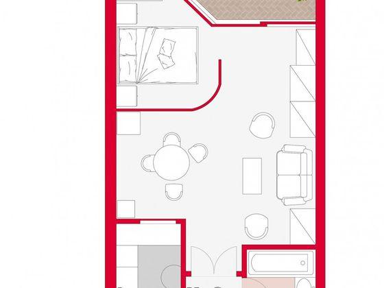 Location studio meublé 78 m2
