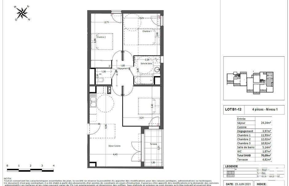 Vente appartement 4 pièces 70 m² à Marseille 12ème (13012), 289 000 €