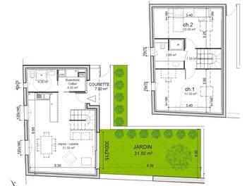 Maison 3 pièces 65,8 m2