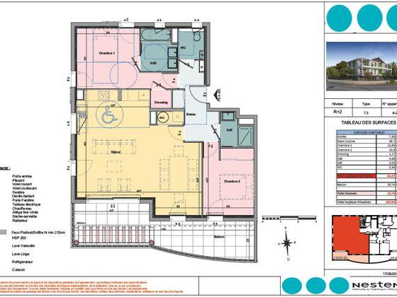 Vente appartement 3 pièces 82,27 m2