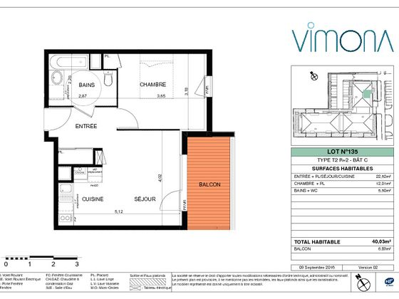 Location appartement 2 pièces 40,03 m2