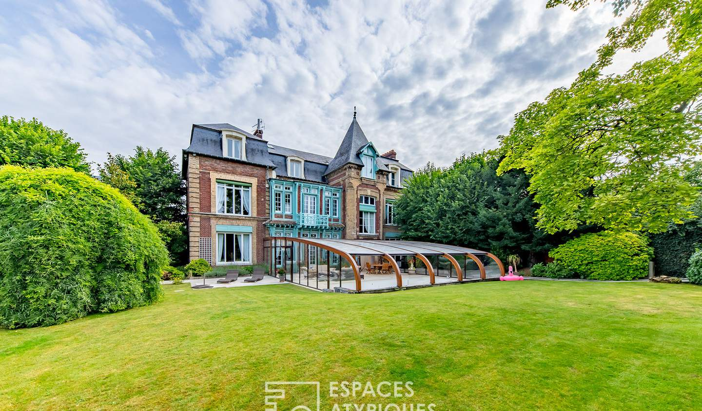 House with pool and terrace Rouen