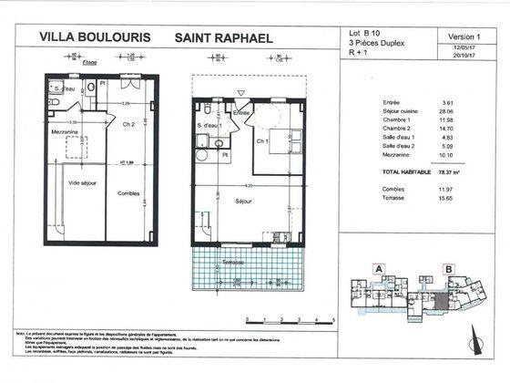 Vente appartement 3 pièces 78,37 m2