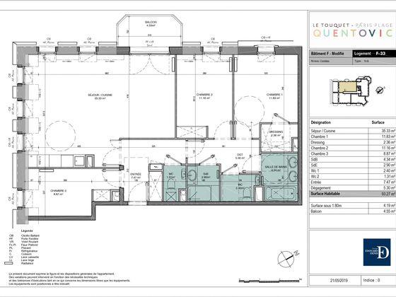 Vente appartement 4 pièces 93,27 m2