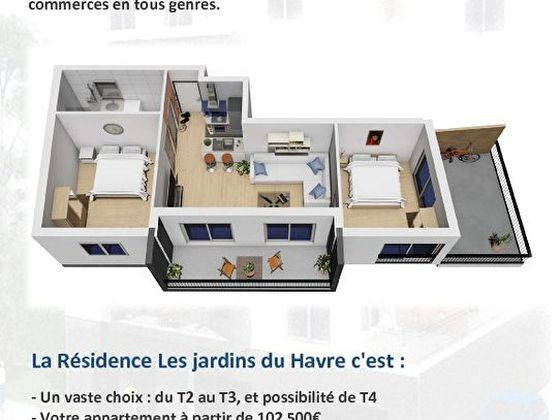 Vente appartement 2 pièces 41,35 m2