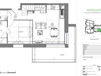Duplex 3 pièces 69,33 m2