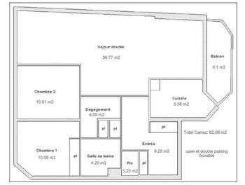 Appartement 4 pièces 82,08 m2