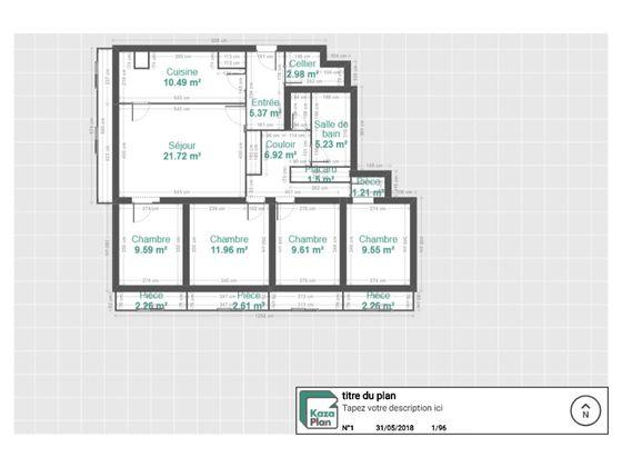 Vente appartement 5 pièces 97,56 m2