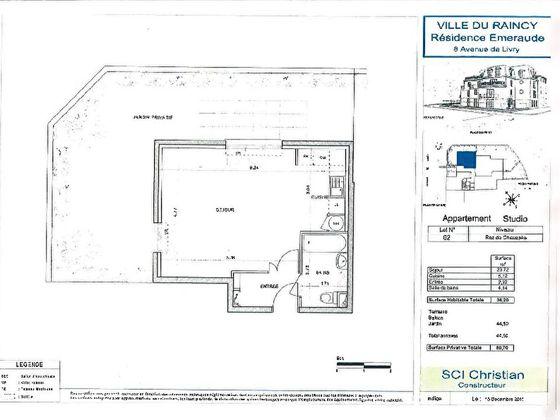 Vente studio 36,2 m2