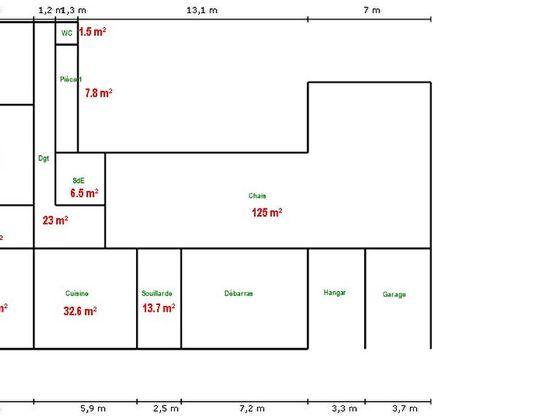 Vente maison 17 pièces 150 m2