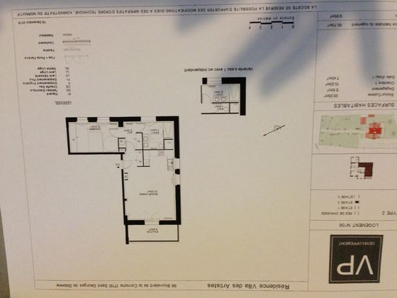 Vente appartement 2 pièces 60,7 m2