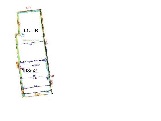 Vente terrain 198 m2