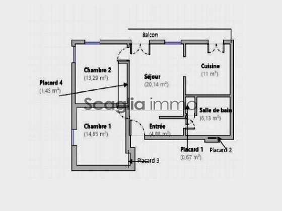 Vente appartement 3 pièces 72,41 m2