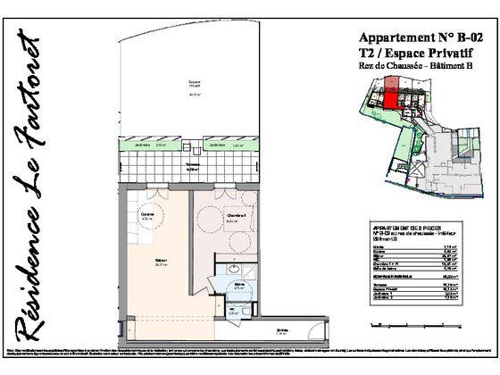 Vente appartement 2 pièces 63,66 m2