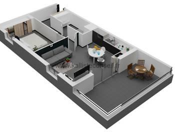 Appartement 2 pièces 50,34 m2