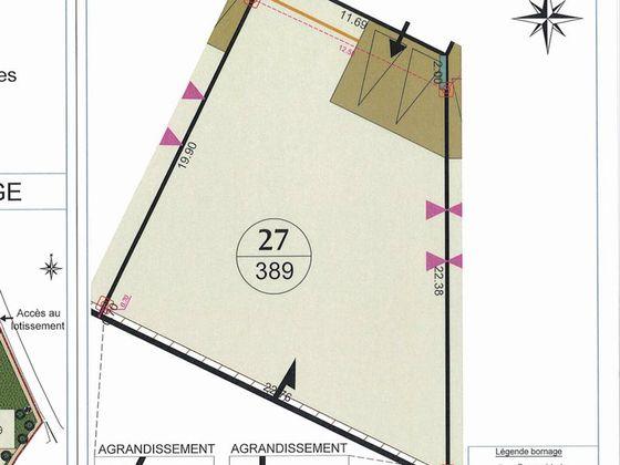 Vente terrain 389 m2