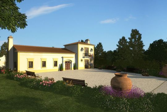 Farm house with garden