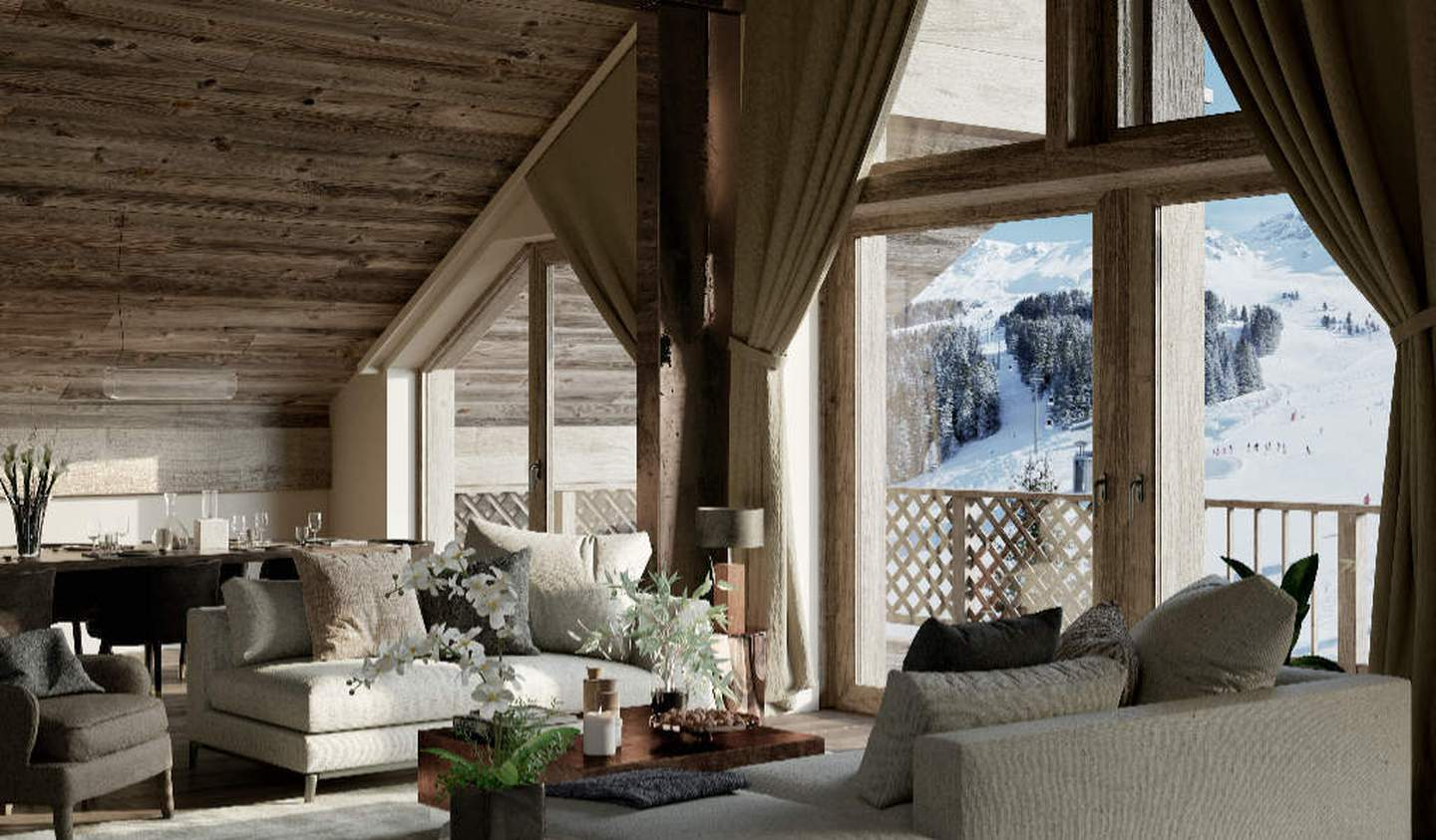 Apartment with terrace and pool MERIBEL