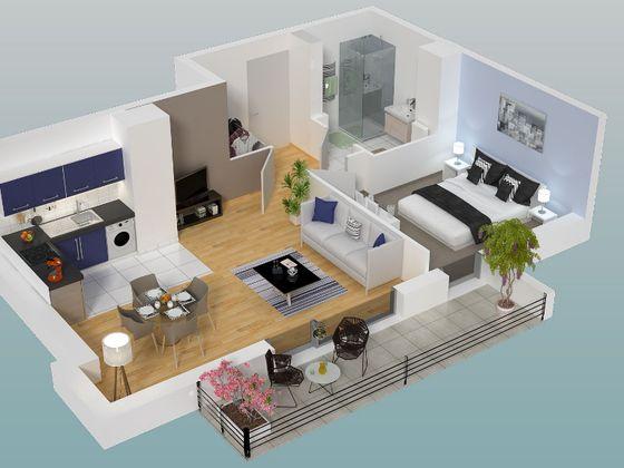 Vente appartement 2 pièces 45,63 m2