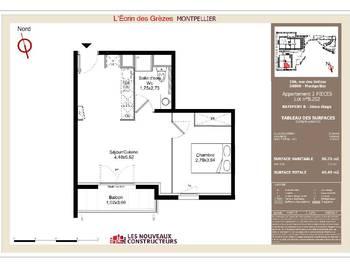 Appartement 2 pièces 36,76 m2