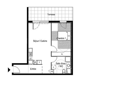 plan appartement 26 m2