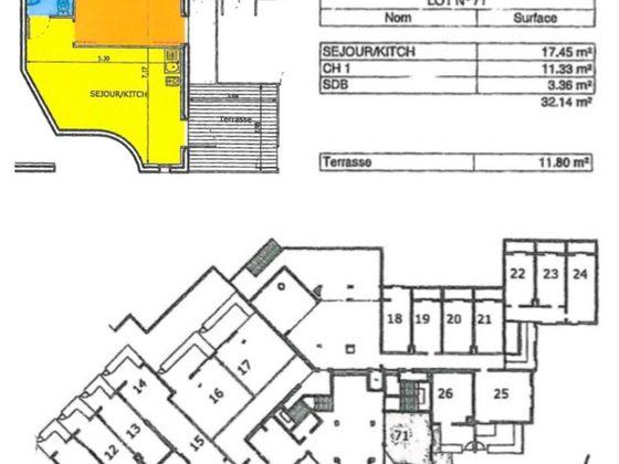 Vente appartement 2 pièces 32,14 m2