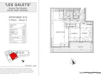 Appartement 3 pièces 69,57 m2