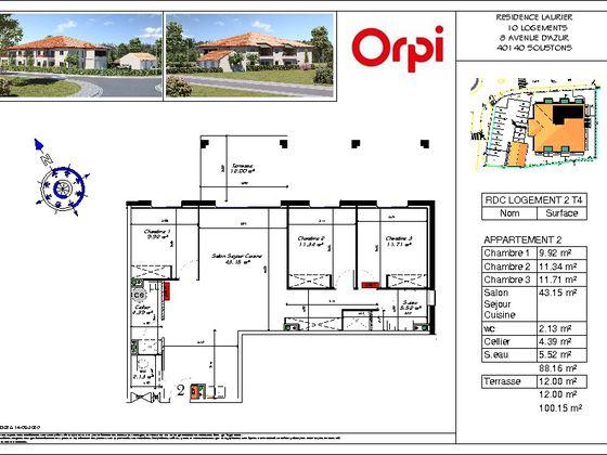 Vente appartement 4 pièces 88,16 m2