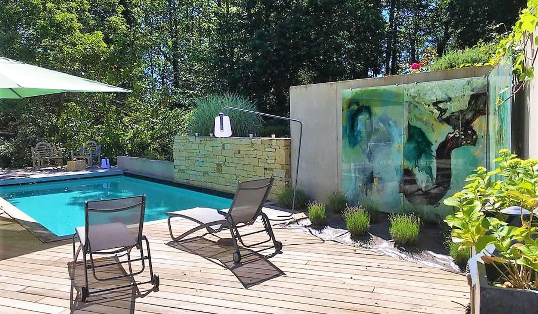 Maison contemporaine avec piscine en bord de mer Combrit