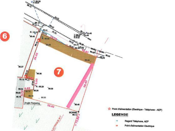 Vente terrain 1120 m2